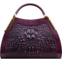 2018 известный брендовая Дизайнерская обувь для женщин сумки пояса из натуральной кожи роскошные аллигатора узор женская сумка Meaaenger Bolsa Feminina
