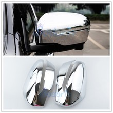 Chrome Car Styling Door Mirror Cover Rear View Overlay Panel Trim 2015 2016 2017 2018 For Nissan Qashqai Rogue Sport Accessories chrome door handle protect cover fit for nissan qashqai j11 rogue sport accessories 2014 2015 2106 2017 2018 2019