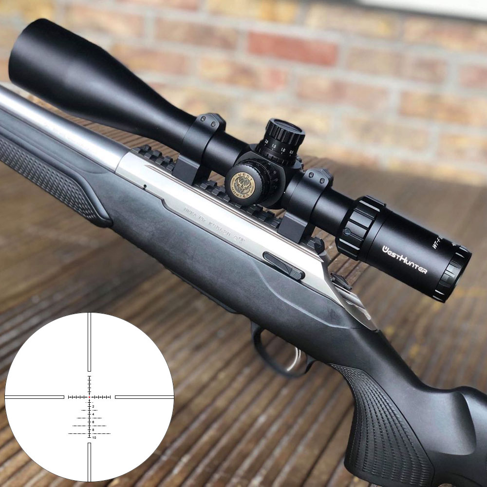 Long Range Air Gun Hunting Riflescope WestHunter WT-F 5-20X50SF Military Tactical Illuminated Etched Reticle Scope Sights
