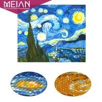 Meian Starry Night Diamond Embroidery Full 5D DIY Diamond Painting Cross Stitch Diamond Mosaic Bead Picture