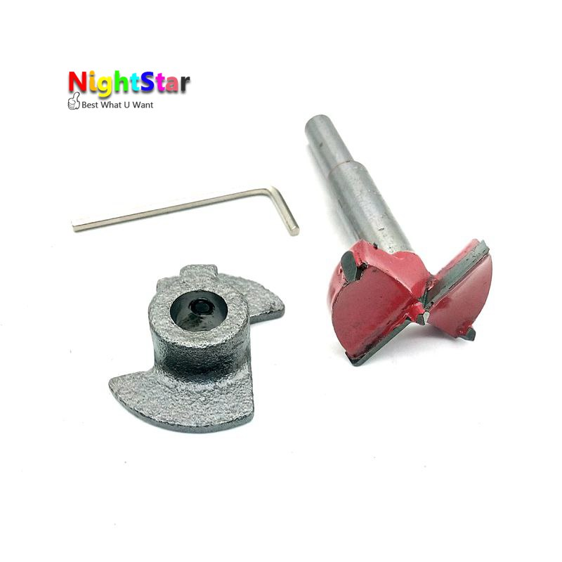 35mm Cemented Carbide Hole Saw Woodworking Core Drill Bit Hinge Cutter Boring Forstner Bit Tipped Drilling Tool Color Random 30mm tool hinge cutter boring for woodworking wood drilling forstner bit tungsten carbide carpentry tool rotary