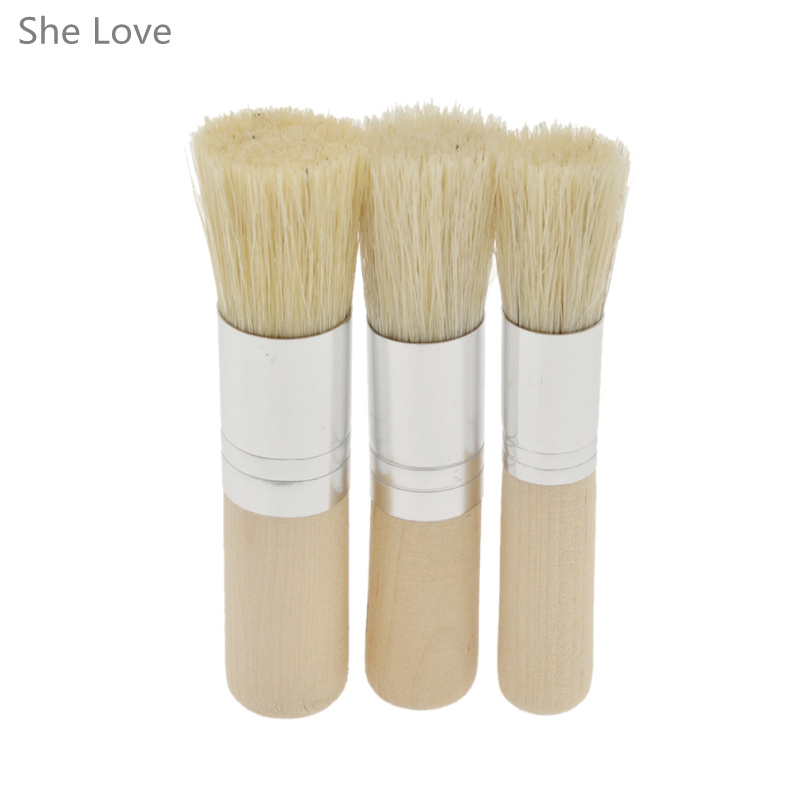 She Love 3pcs Stencil Brushes For Crisp Stencil Application Dotting Creating Interesting Textures