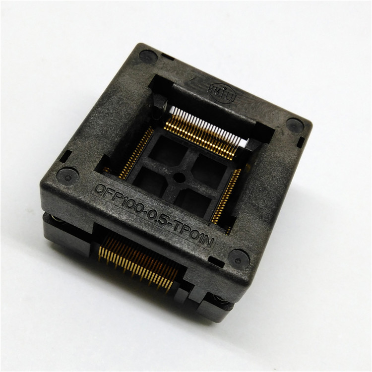 1pcs QFP100-0.5 Test Stand Lower Press Release LQFP Programming Block Aging Mount OTQ-100-0.5-09 new tms320f28234pgfa 176 lqfp