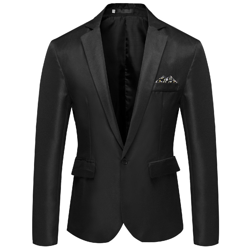 Men Handsome Young Student Small Suit Slim Casual Dress Blazer Coat