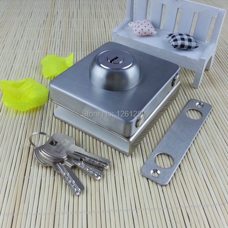 free shipping glass door lock security lock House Ornamentation Door Hardware Hypostyle bolt Engineering free shipping glass door lock security lock house ornamentation door hardware lock stainless steel lock