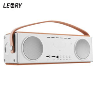 LEORY UN22 20W Home Bluetooth Speaker 3600mah Portable Wireless Bluetooth Speaker With Mic Handfree TF Wooden