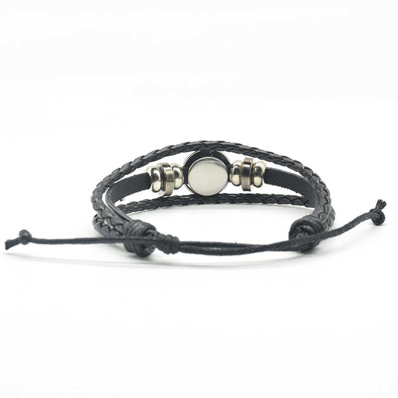 """""""Imagination Is The Only Weapon...""""   Quote Bracelet , DIY Glass Cabochon  Black Leather Bracelet Fashion Jewelry"""