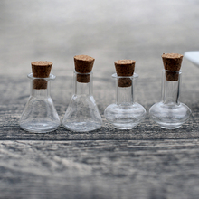 10pieces mini wishing glass bottle with cork vial pendant handmade jewelry findings glass globe цены онлайн
