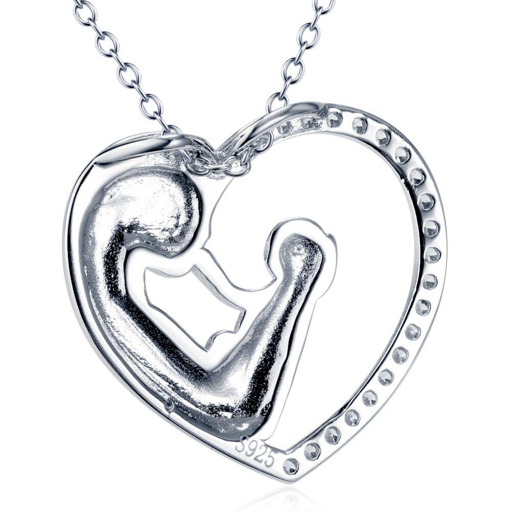 04aac893bf76 Shineland mamá ama bebé mano en mano 925 de moda de plata esterlina AAA  Zircon encanto