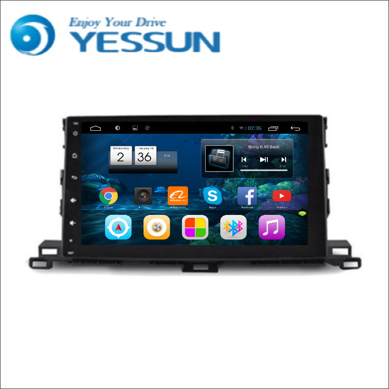 YESSUN Android Radio Car DVD Player For Toyota highlander stereo radio multimedia GPS navigation with WIFI Bluetooth AM/FM