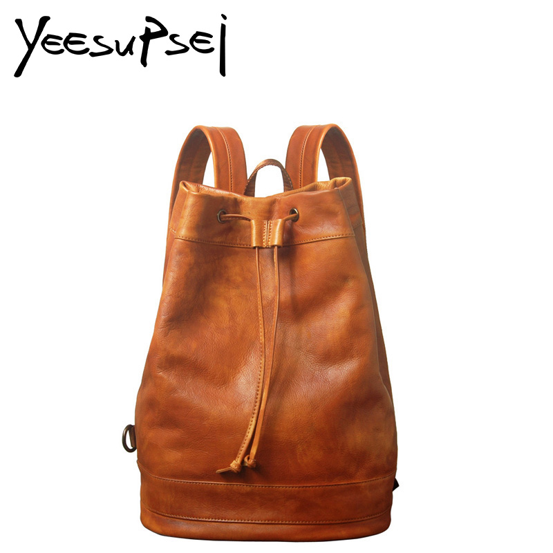 YeeSupSei Fashion Women Small Genuine Leather Backpack Travelling Schoolbag Sac a dos School Bag For Girl Female Mini Backpack