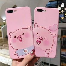 For iPhone 6 6S 7 8 Plus Cases Cute Cartoon Naughty Pig Soft TPU Silicone Shell For iPhone X XR XS Max Cover Capa Coque Case цена и фото