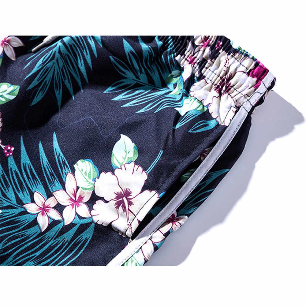 KLV летние женские парные пляжные шорты с цветочным принтом, Шорты для плавания, шорты из никеля, национальные пляжные мужские купальные костюмы, Плавки # @ F