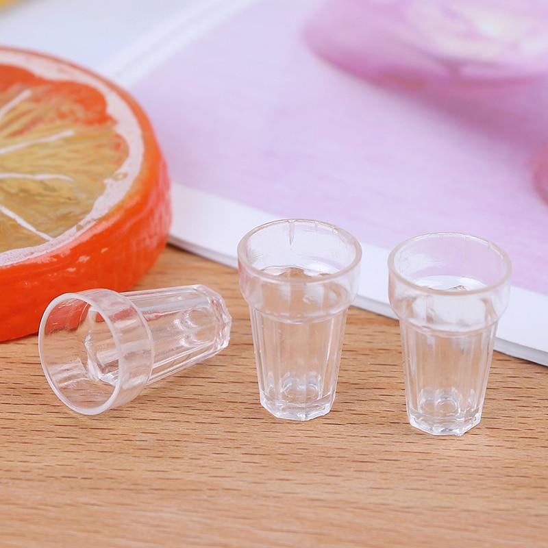 Home Inventive 4pcs/lot Diy Parts 13mm*19mm Mini Cola Wine Beer Cup Dollhouse Craft Transparent Miniature Home Decoration Glass Model