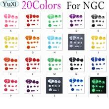 YuXi 10 ensembles/lot jeu complet D tampons bouton marche arrêt pour GameCube A B X Y L R boutons et capuchon de manette analogique pour NG C