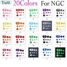 YuXi 10 takım/grup Tam set D Pedleri Güç AÇıK KAPALı Düğme GameCube için Bir B X Y L R Düğmeleri ve Analog Joystick Çubuk Kap NG için C