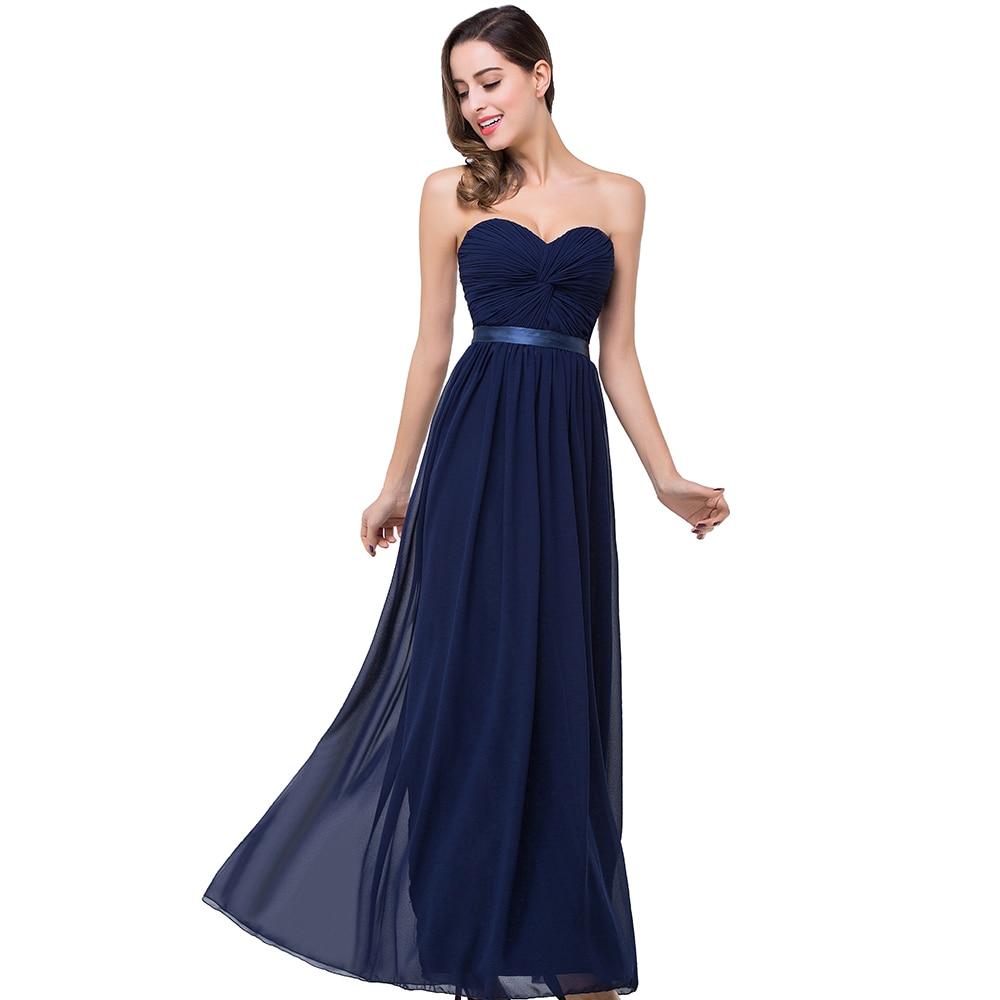 Dark Blue Chiffon Bridesmaid Dresses Flower Girl Dresses