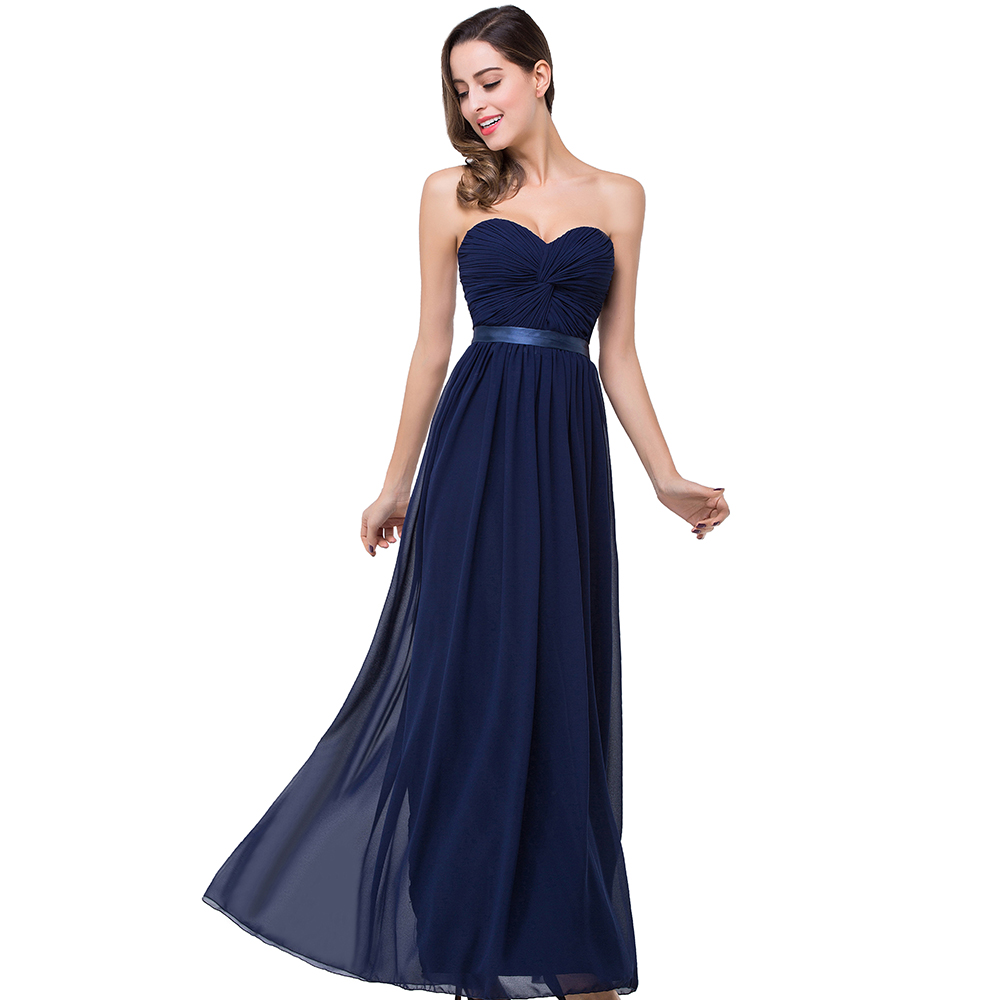 Online get cheap pictures bridesmaids dresses aliexpress real picture 2017 flowing dark navy chiffon bridesmaid dresses with sash floor length cheap bridesmaid dresses ombrellifo Gallery