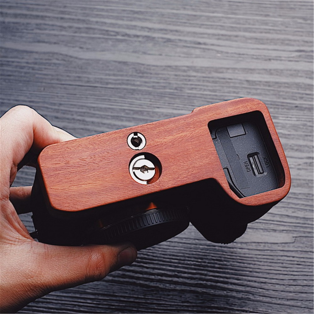 Mahogany Wooden Wood Hand Grip Plate Bracket For Sony a9 A7m3 A7RIII ILCE 7RM3 A7R MKIII