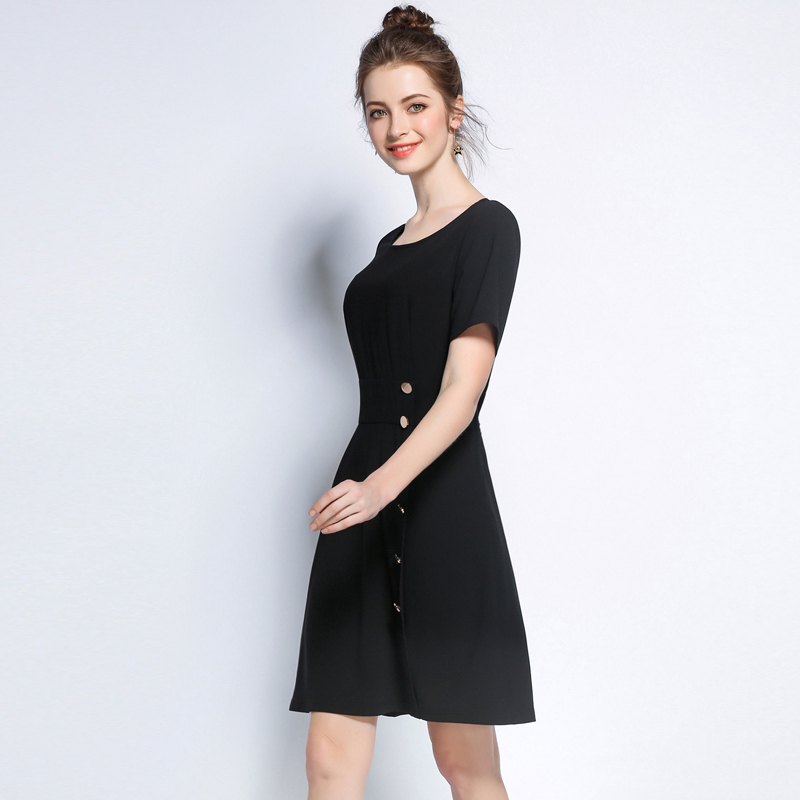 5xl Women Summer Dresses Plus Size European Woman Casual Black Cute