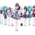Случайный Цвет 7 компл. Новый стиль монстр куклы одежду высокого качества монстр рождественский подарок Оптовая мода без куклы