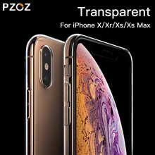 PZOZ Case Voor iPhone X Xs Max Xr 6 6s 7 8 Plus 8 Plus Telefoon Beschermende Case Clear transparante Luxe TPU Siliconen Cover Shell Tas(China)