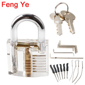 Padlock-Lock Locksmith-Tool Visible Pick Cutaway Practice Transparent Extractor-Set Feng