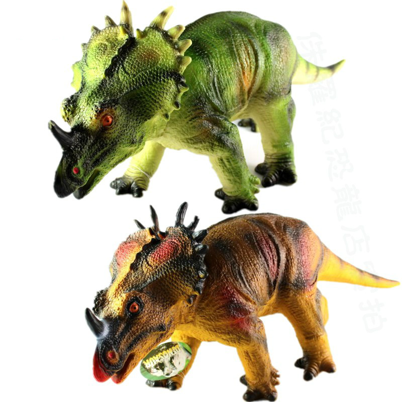 52cm Large Size Styracosaurus Model Toy Dinosaur Model Simulation Animal Model Children Best Gift Home Decoration Teaching Aids