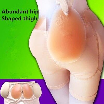 2ba07c3512154d Kobiet 4 klocki majtki Sexy stanik push up i majtki obfite pośladki gąbka +  silikon butt podkładki Butt podnoszenia wkładki spodnie hip klocki majtki w  ...