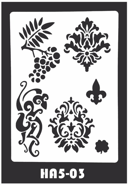 4pcs lot mehndi indian henna tattoo stencil reuseable henna template