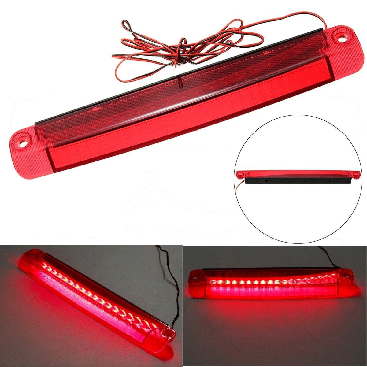 Unverisal Car 18 LED Car Reversing Lights Rear Tail Third Brake Stop Light High Mount Lamp Red 1210 12V 5W