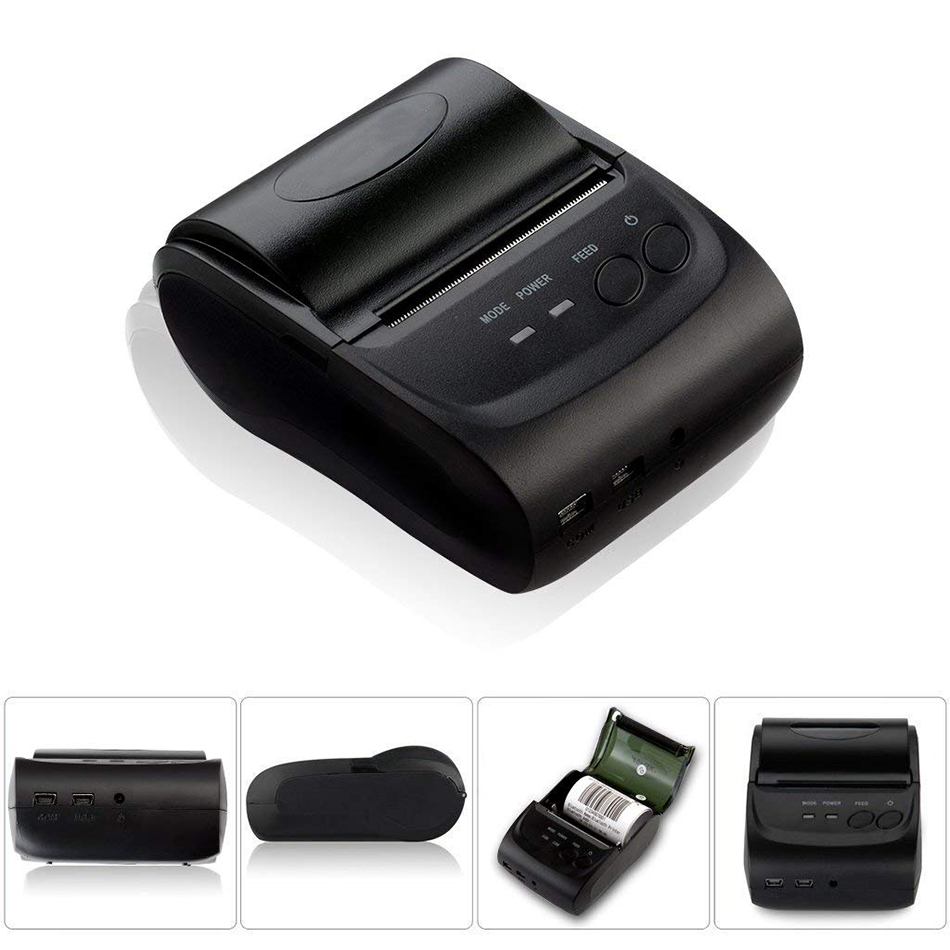 Pos Printer Android Portable Bluetooth Thermal Printer Mini 58mm Bluetooth Android Ios Pos Printer Mobile USB Receipt Printer