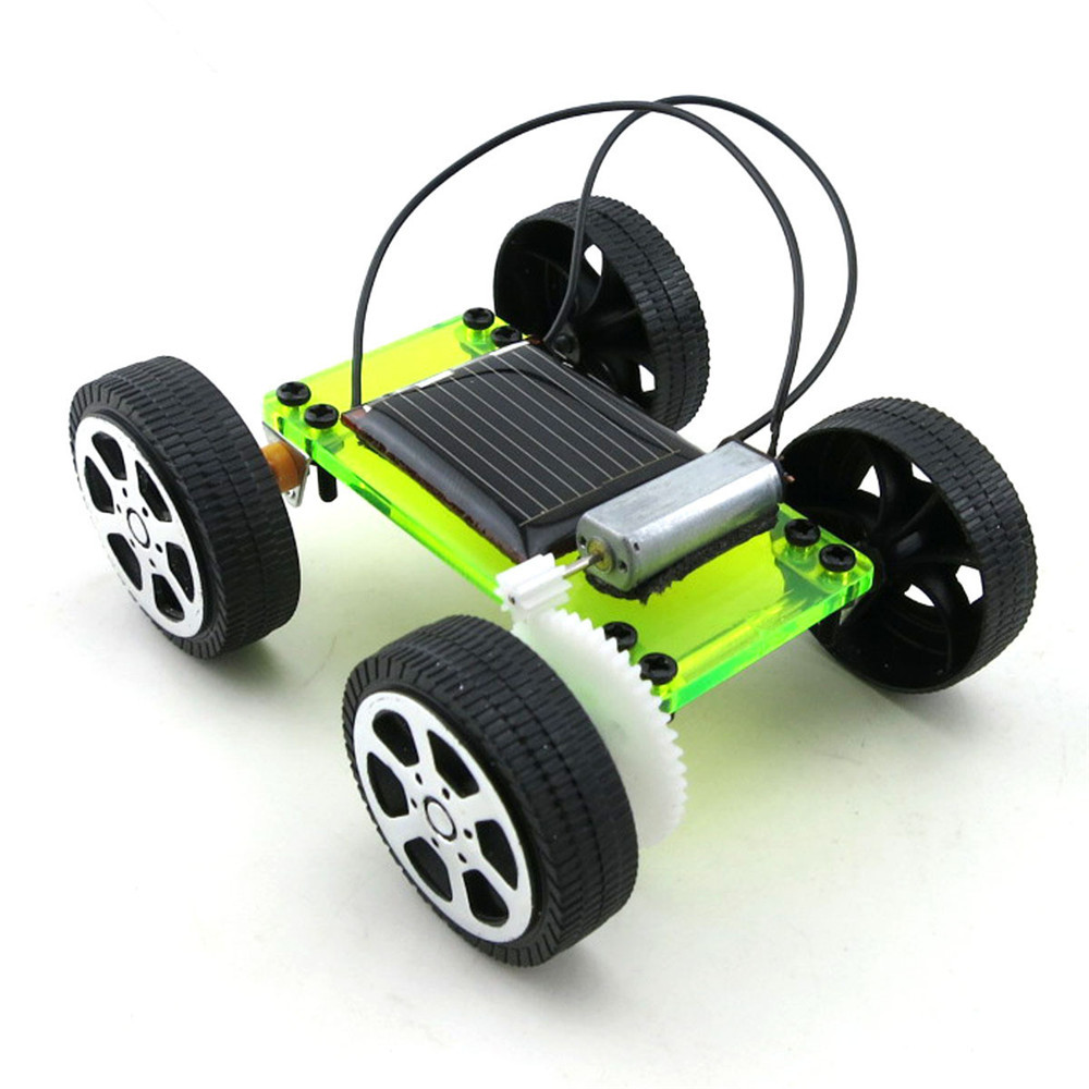 1 Set Mini Solar Powered Toy DIY Car Kit Children Educational Gadget Hobby Funny KID Gift Drop Shipping цена