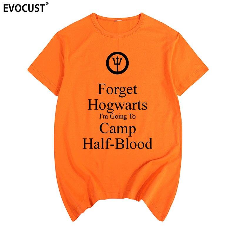 camp half blood forget hogwarts Long Island Sound Percy Jackson Summer T-shirt Cotton Men T shirt New women TEE fashion Casual Футболка