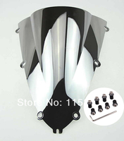 Motorcycle Silver Chrome Motorcycle Windscreen Windshield Case for Yamaha YZF R1 1998 1999