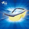 Nueva roca AL026 amarillo gafas protectoras a prueba de polvo y de arena de los hombres y mujeres de conducción segura gafas de choque bolsa de correo