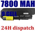 9 células 7800 mAh bateria do portátil para IBM Lenovo ThinkPad T61 T61p R61 R61i T61u R400 t400