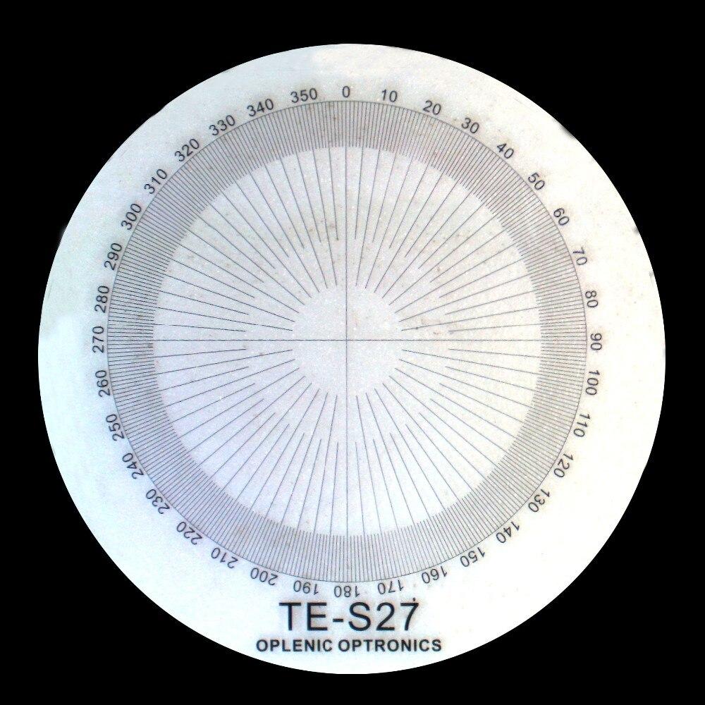 TE-S27 d = 20   967 360 grados diagraph microscopio ocular micrómetro calibración diapositiva micrómetro