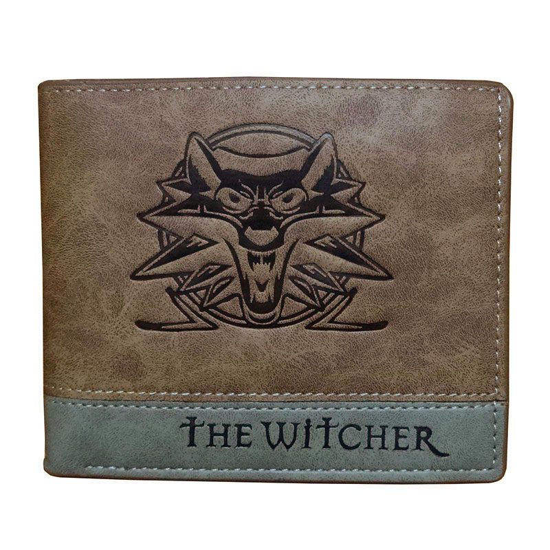 Games Anime The Witcher Short Wallet Fashion Casual Leather Purse for Men Women Dollar Price Card Holder Wallet with Coin Bags