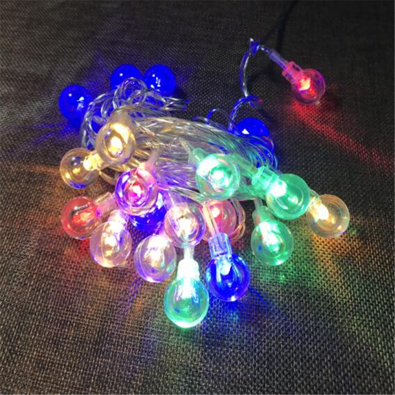 4Meters 20 LEDs Bubble Balls String Lights for Decorative Xmas Wedding Party Bedroom Light Decoration Fairy Lamp