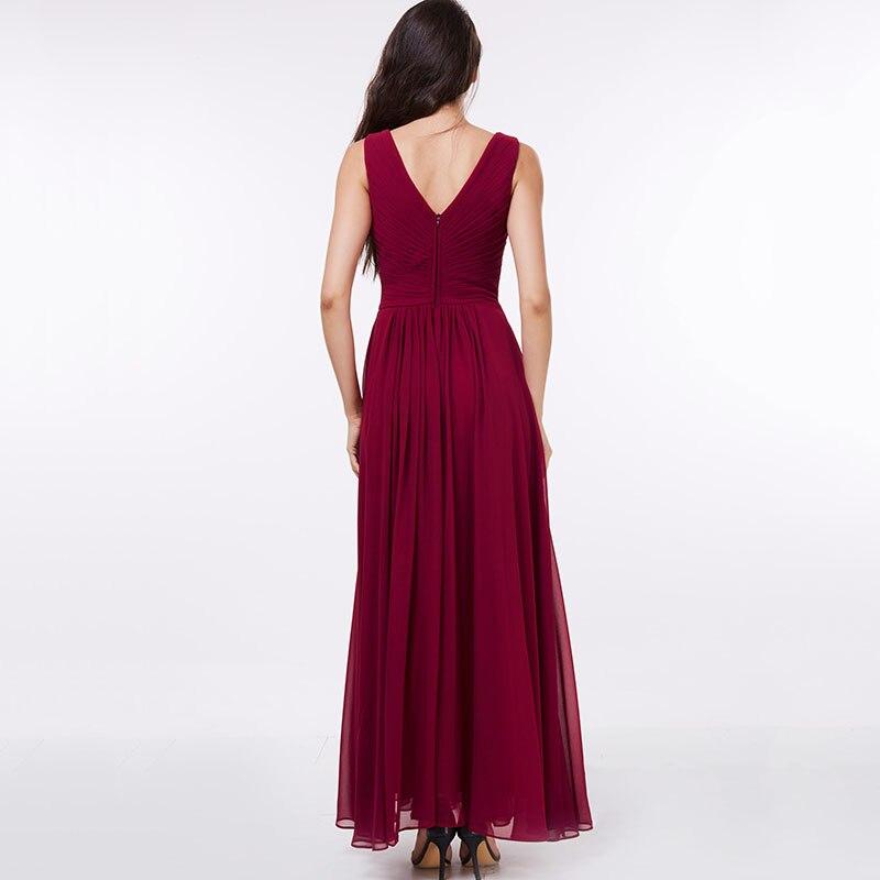 Tanpell lång v-halsa klänning billig sexig svart Golvlängd - Särskilda tillfällen klänningar - Foto 3