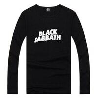 Black Sabbath Letter Punk Rock Music 2016 Summer Mens Letter Print T Shirt Swag Long Sleeve