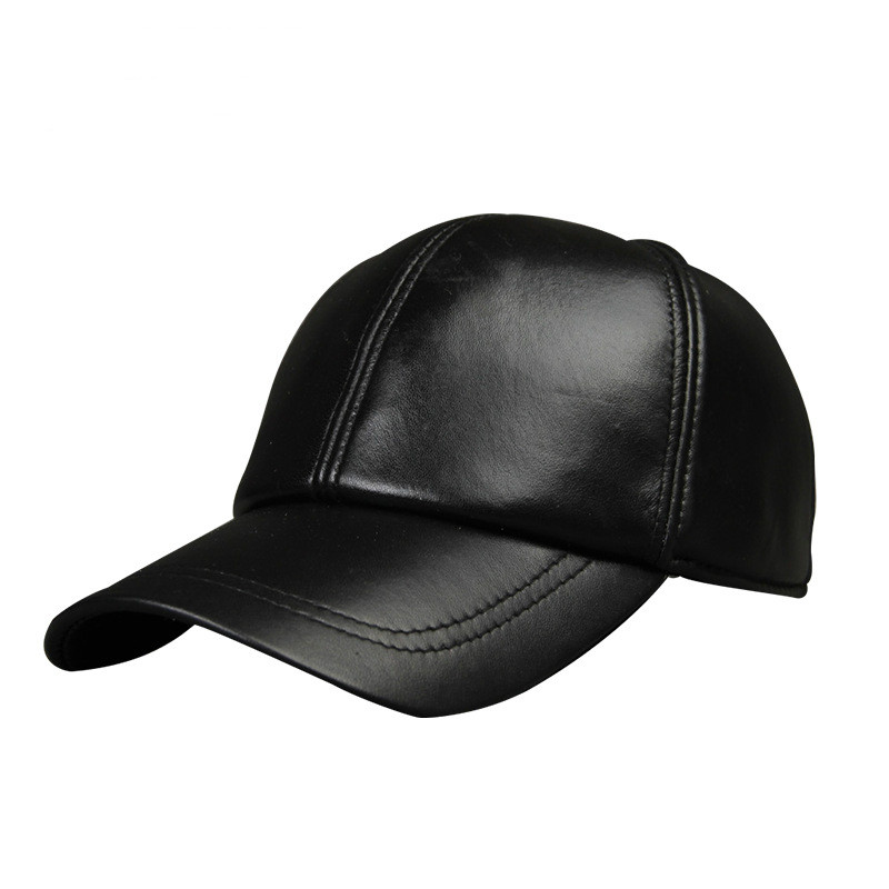 Fashion Men Baseball Caps Autumn Winter Warm Solid Black Baseball Hat Adjustable Size