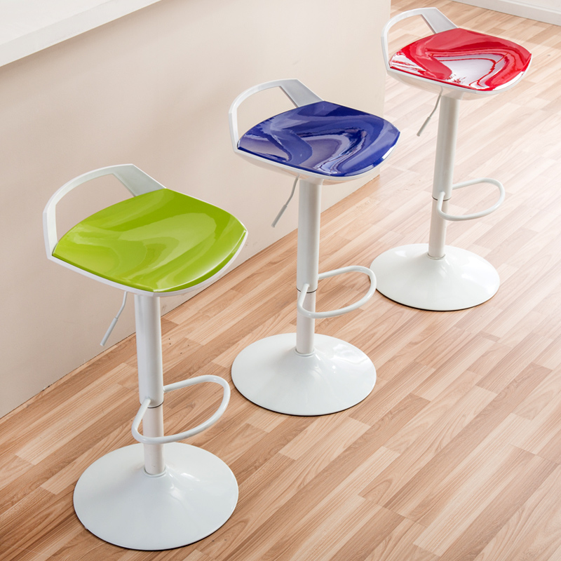 Creative Plastic Lifted Bar Chair With Handle Rotated Multi-function High Stool Simple Household Dining Chair Front Desk Stool