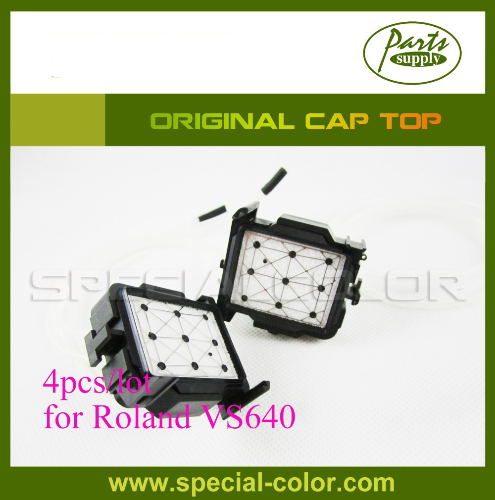 4pcs/lot Original Printer Cap Top VS640 Capping Station for Roland DX7 Solvent Inkjet Printer permanent roland xj 640 xj 740 eco solvent chips 6pcs set cmyklclm printer parts