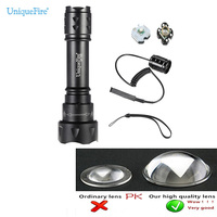UniqueFire T20 XPE Rechargeable LED Flashlight Kit 1 Ultra Bright Flashlights 5 Modes Zoom Lens Water