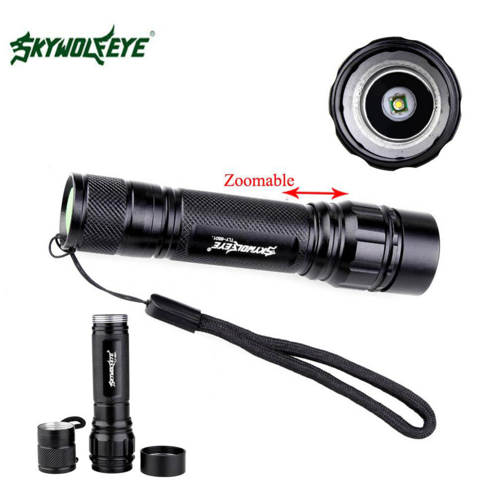SKYWOLFEYE LED Flashlight 18650 zoom torch Waterproof flashlights 300LM 3 Modes LED Zoomable light For 18650 3.7v Battery-in LED Flashlights from ...
