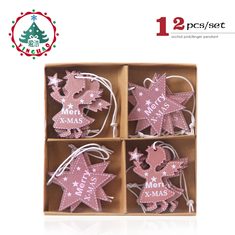 Inhoo Wooden Christmas Decoration For