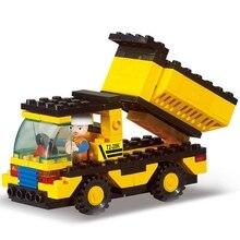 DIY Construction Vehicles Truck Assemble 93pcs  Building Blocks Bricks Kits Children  Educational Toys Kids Gifts все цены