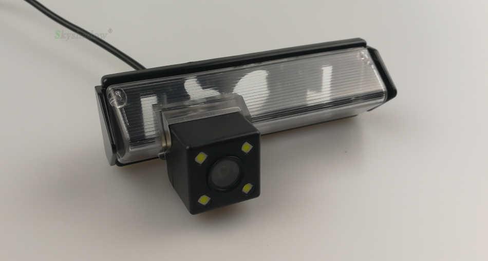 Pour Mitsubishi Pajero Sport Grandis Challenger Nativa voiture Vision nocturne 4 8 12 LED dynamique Fisheye Parking caméra de recul
